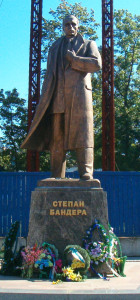 Stepan_Bandera_in_Lviv